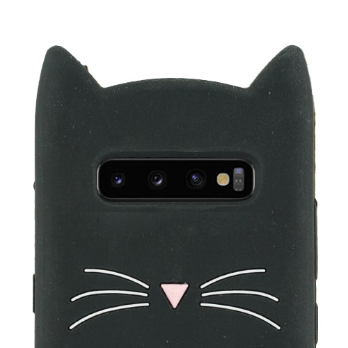 Silicone Cat Black Samsung S10 Plus