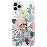 Flowers Pink Leaves Ring Case Iphone 11 Pro