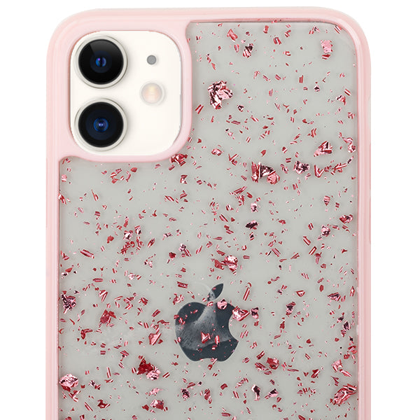 Flake Pink Clear Case Iphone 11