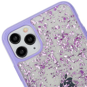 Flakes Clear Purple Case Iphone 11 Pro