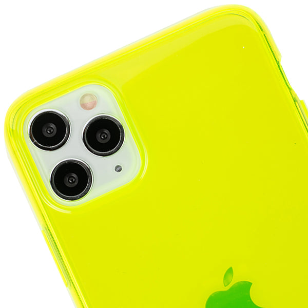 Neon Clear Yellow Skin Iphone 11 Pro