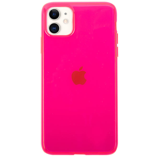 Neon Clear Hot Pink Iphone 11