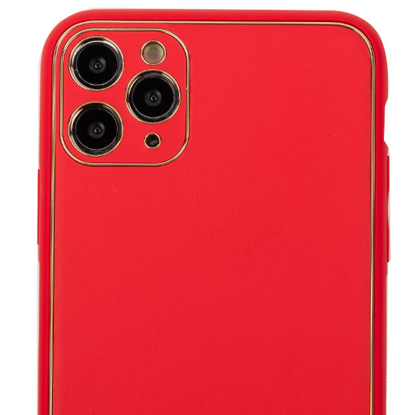 Leather Style Red Gold Case Iphone 11 Pro
