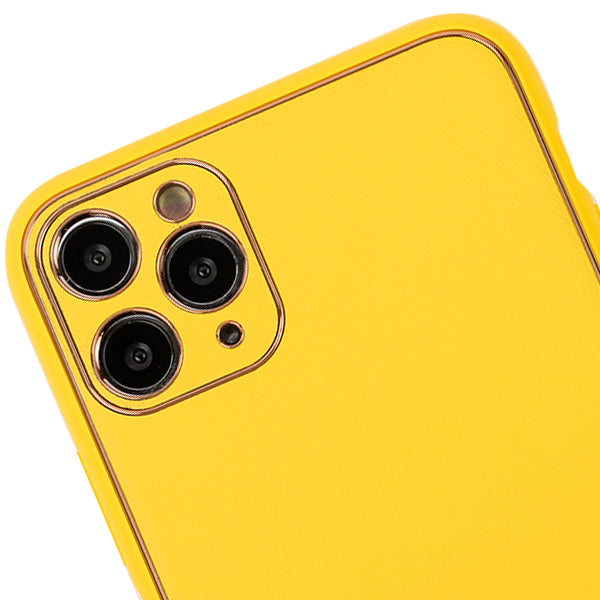Leather Style Yellow Gold Case Iphone 11 Pro