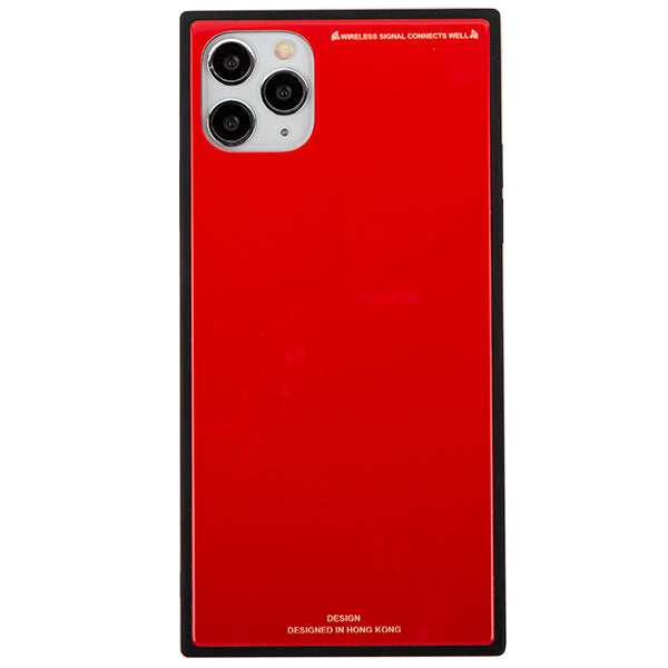 Square Hard Box Red Case Iphone 11 Pro Max