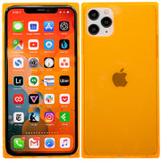 Square Box Orange Skin Iphone 11 Pro