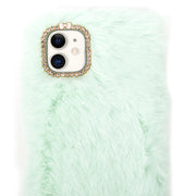 Fur Teal Blue Case Iphone 11