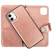 Handmade Detachable Bling Fox Rose Gold Wallet Iphone 11