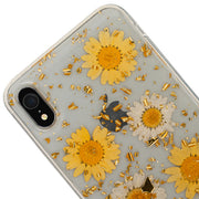 Real Flowers Yellow Flake Case Iphone XR