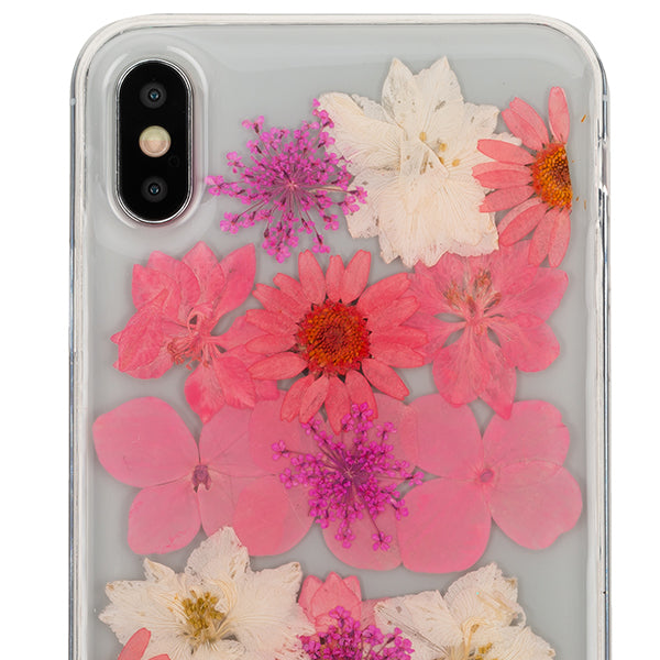 Real Flowers Pink Case Iphone 10