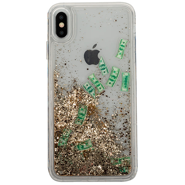 Liquid Dollar Bills Case Iphone XS Max