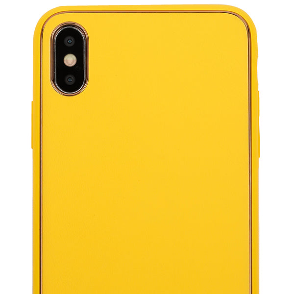 Leather Style Yellow Gold Case Iphone XS Max