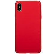 Leather Style Red Gold Case Iphone 10