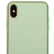 Leather Style Mint Green Gold Case Iphone XS Max