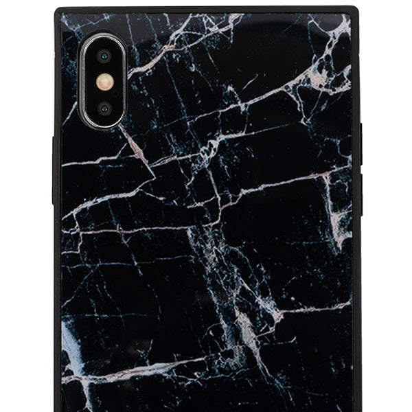 Square Marble Box Black Iphone 10