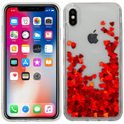 Red Hearts Liquid Iphone XS Max
