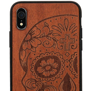 Skull Real Wood Case Iphone XR