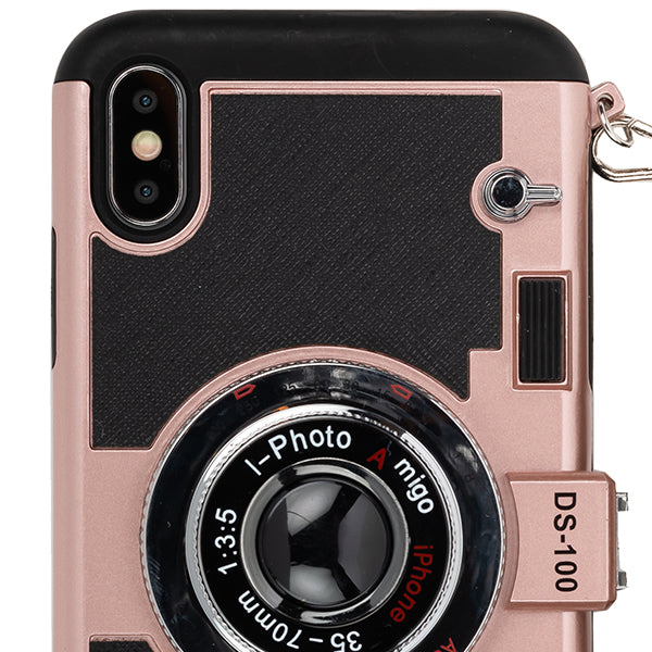 Camera Rose Gold Case Iphone 10