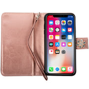 Handmade Bling Fox Rose Gold Wallet Iphone XS Max