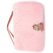 Fur Detachable Wallet Light Pink Samsung S9