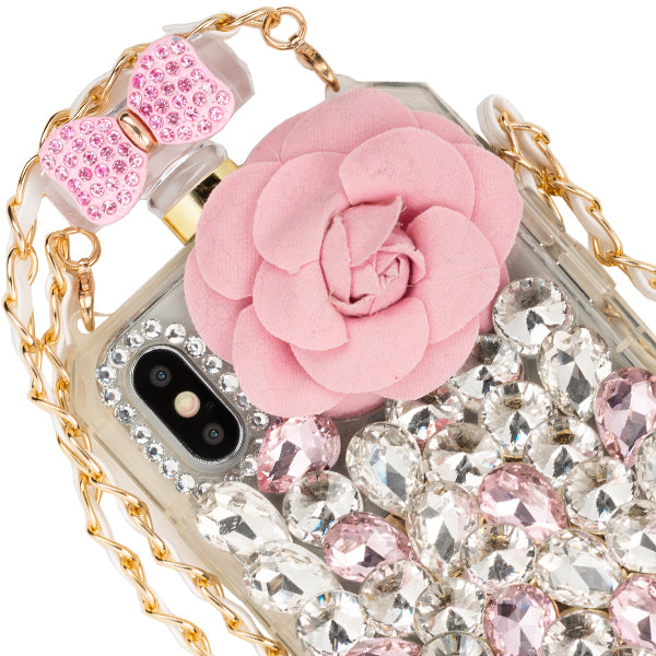 Handmade Bling Pink Flower Case Iphone XS Max