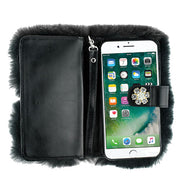 Fur Grey Detachable Wallet Iphone 7/8