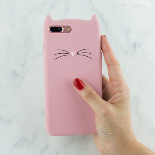 Silicone Skin Cat Pink IPhone XR