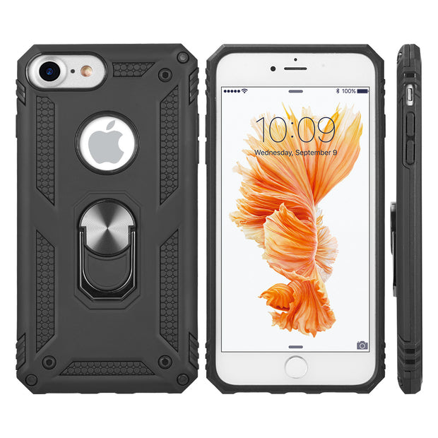 Hybrid Ring Black Case Iphone SE 2020 - Bling Cases.com