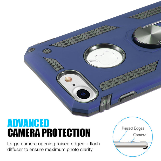 Hybrid Ring Blue Case Iphone 6/7/8 - Bling Cases.com