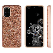 Hybrid Bling Case Rose Gold Samsung S20 Plus - Bling Cases.com