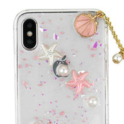 Seashells Clear Case Iphone 10/X/XS - Bling Cases.com
