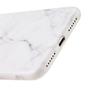 Marble Soft Skin White Iphone 7/8 - Bling Cases.com