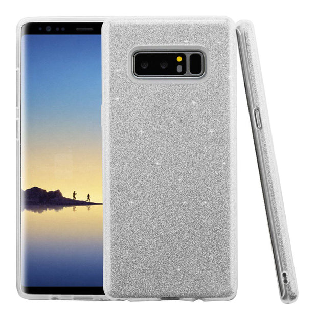 Glitter Silver Case Samsung Note 8 - Bling Cases.com