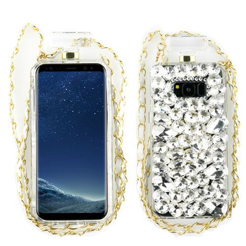 Handmade Bling Silver Bottle Case Samsung S8 - Bling Cases.com
