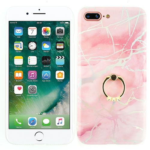 Marble Pink Ring Iphone 7/8 Plus - Bling Cases.com