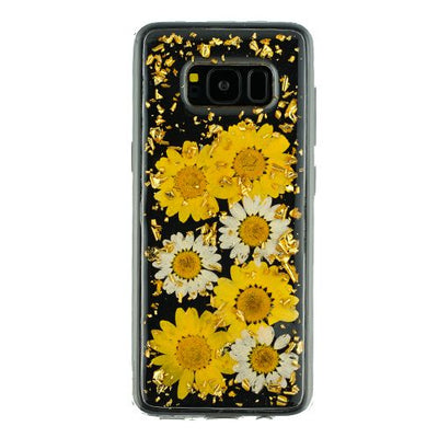Real Flowers Yellow Flake Samsung S8 Plus - Bling Cases.com