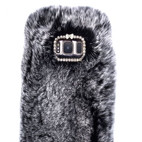 Fur Grey Case Samsung S8 Plus - Bling Cases.com