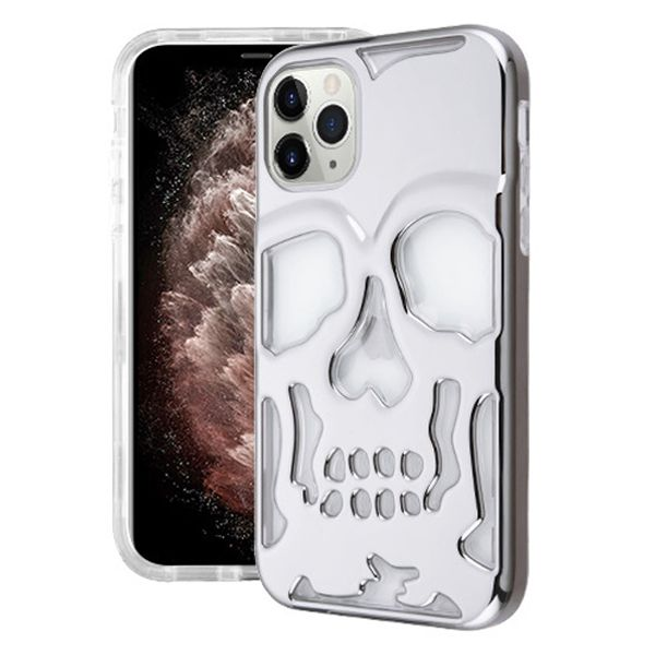 Skull Silver Clear Iphone 11 Pro - Bling Cases.com