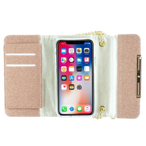 Detachable Purse Rose Gold Iphone XS MAX - Bling Cases.com