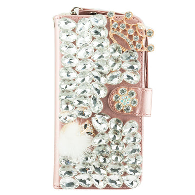Handmade Bling Fox Crown Wallet Samsung Note 9