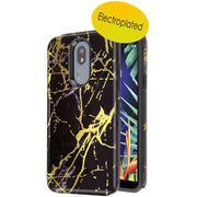 Marble Hybrid Black Gold Case LG K40 - Bling Cases.com