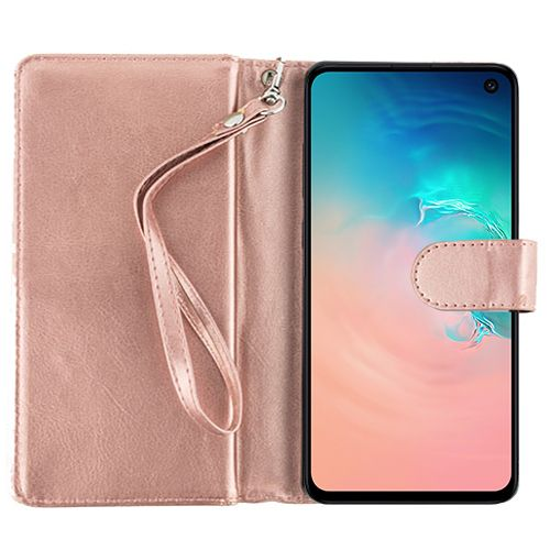Detachable Rose Gold Wallet Samsung S10E - Bling Cases.com