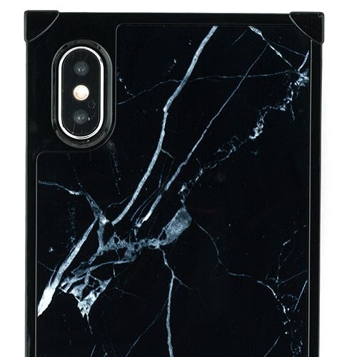 Marble Square Box Black Iphone 10/X/XS - Bling Cases.com