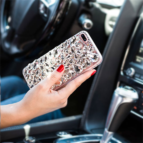 Handmade Bling Silver Case  IPhone 12/12 Pro