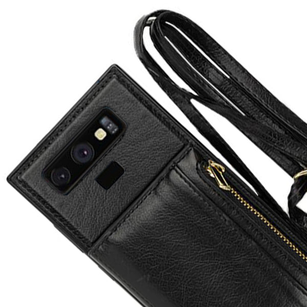 Crossbody Pouch Black Case Samsung Note 9