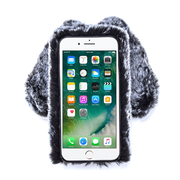 Bunny Fur Grey Case Iphone 7/8 - Bling Cases.com