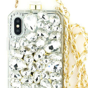 Handmade Silver Stone Bling Bottle Iphone X XS 10 - Bling Cases.com