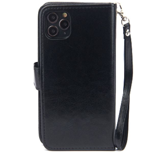 Handmade Detachable Bling Black Wallet Iphone 11 Pro Max