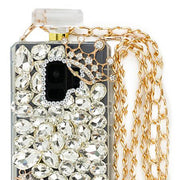 Handmade Silver Fox Bling Bottle Samsung S9