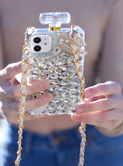 Handmade Silver Stones Bling Bottle Samsung Note 9